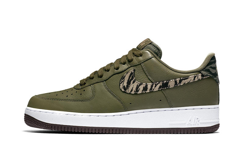 00b85c7c401d Nike Air Force 1 Low Safari Print Swoosh pattern olive black