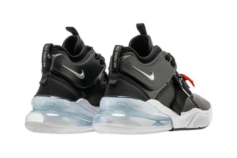 Nike Air Force 270 Black Metallic Silver release date info purchase