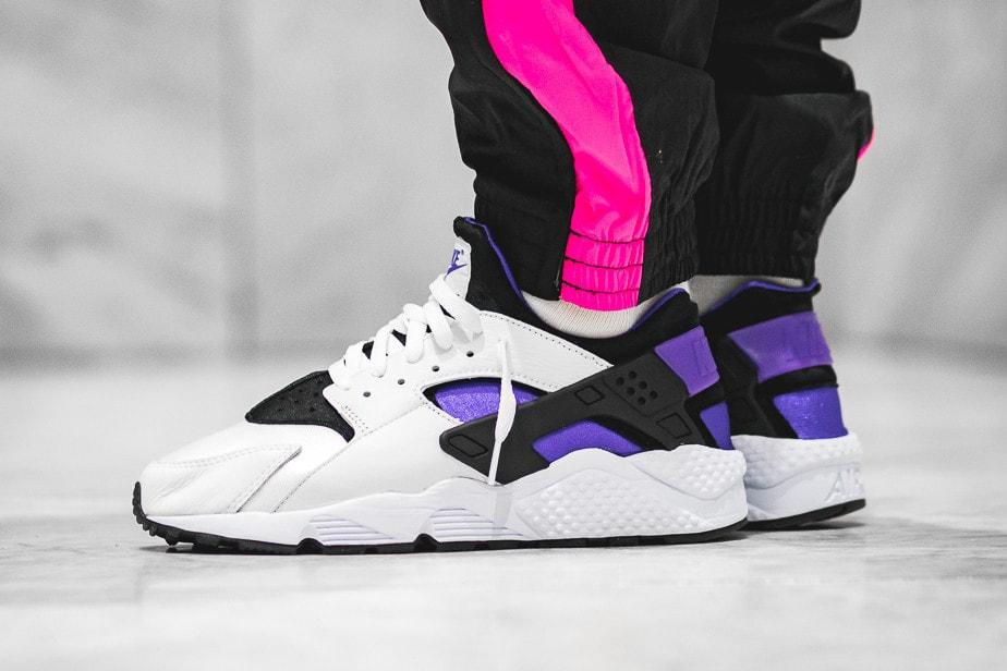 """970104617919 Nike Air Huarache  91 """"Purple Punch"""" On-Feet"""