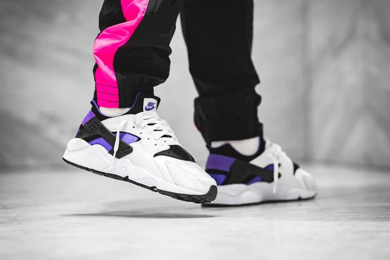 Nike Air Huarache 91 Purple Punch release info sneakers footwear