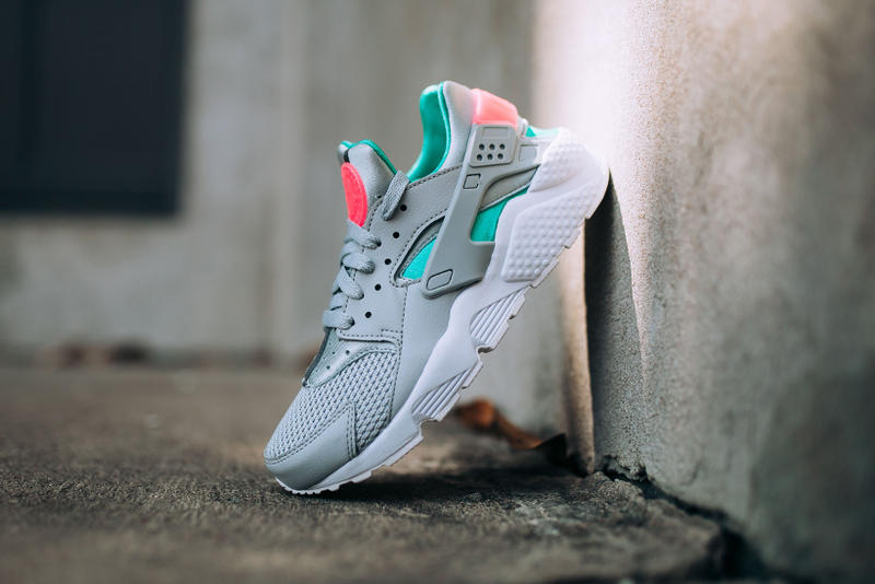on sale a1a59 a8390 Nike Air Huarache South Beach wolf grey sunset pulse march 2018 spring  summer release date info