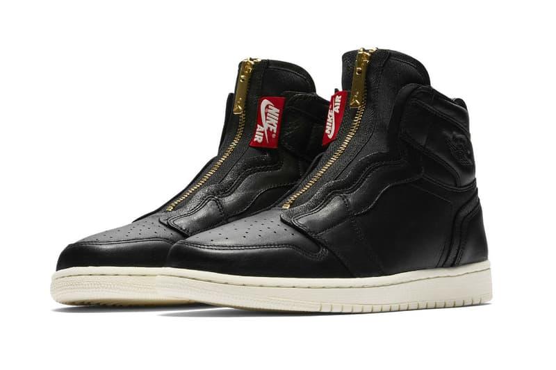 Nike air jordan 1 high zipper deconstructed 2018 March 8 drop release launch date info black white leather AQ3742-116 AQ3742-016