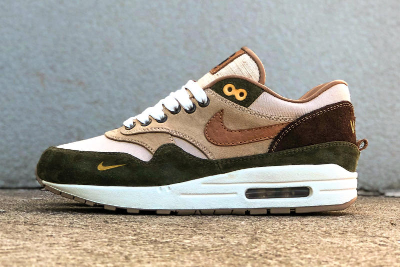 nike air max 1 duck canvas carhartt bespokeind custom sneakers footwear  shoes 8005307c1