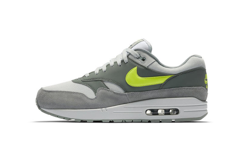 Nike Air Max 1 Grey Volt march 2018 spring summer release date info sneakers shoes footwear