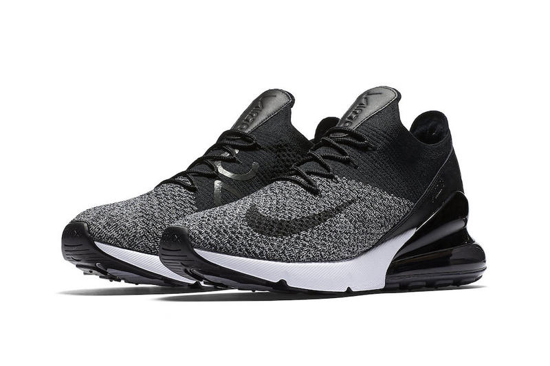 Nike Air Max 270 Flyknit Oreo March 22 release black white sneakers footwear