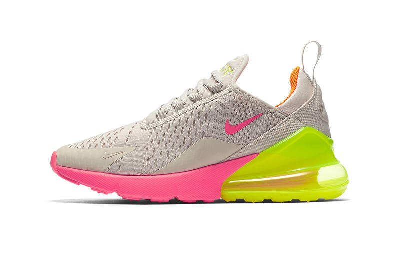 best sneakers be0e3 065de nike air max 270 footwear shoes sneakers neon pink yellow orange