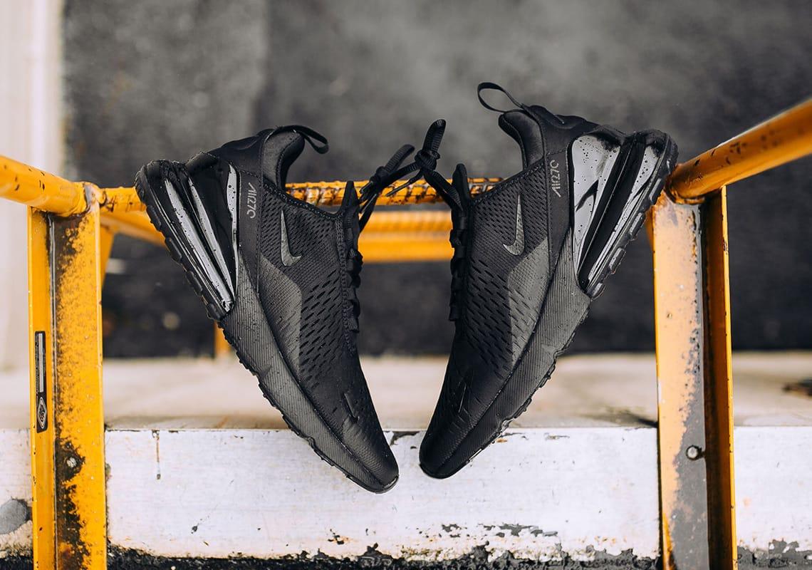 """Nike Air Max 270 """"Triple Black"""" Closer"""