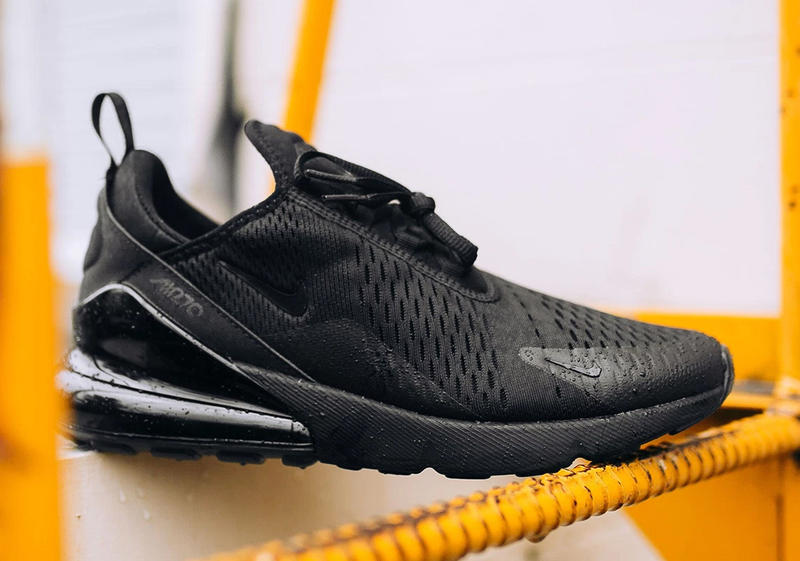 2d0f812f9938 Nike Air Max 270 Triple Black Release Closer Look