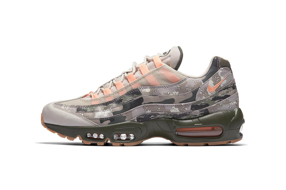 Nike Air Max 95 Camo camouflage march 2018 spring summer release date info drop sneakers shoes footwear AQ6303 001