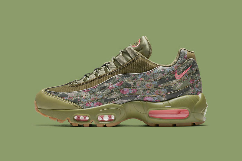 Nike Air Max 95 Floral Camo AQ6385 200 april 2018 spring summer release date info drop sneakers shoes footwear