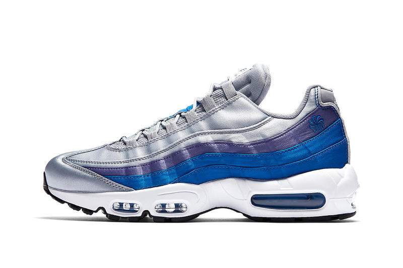 Nike Air Max 95 Pinwheel Logo wolf grey blue nebula purple slate white  footwear nike sportswear 0bb0b0d366b5