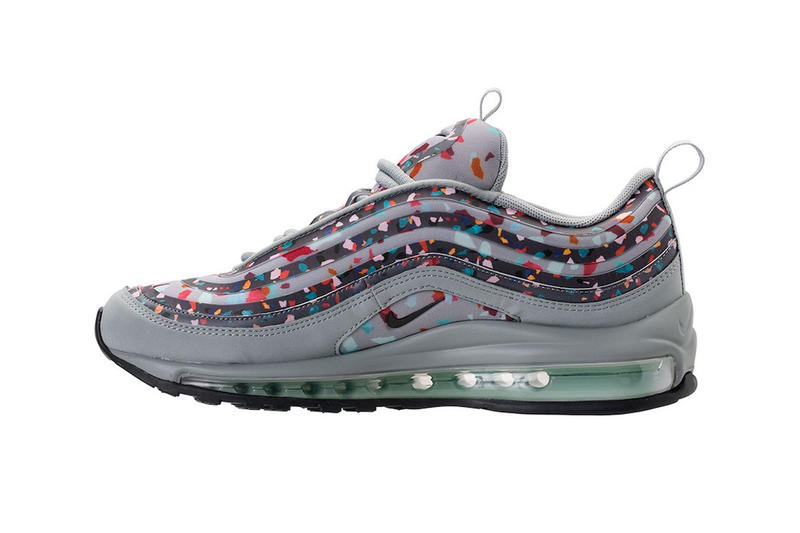 Nike Air Max 97 Confetti Colorway New Releasing April 12 Information Details Sneakers Footwear Trainers Women's Gray