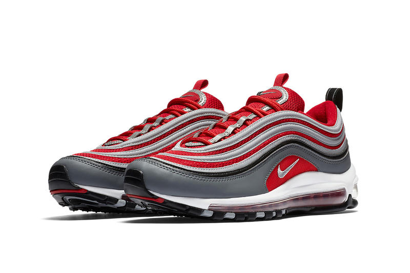 Nike Air Max 97 In Red Grey White Black Hypebeast