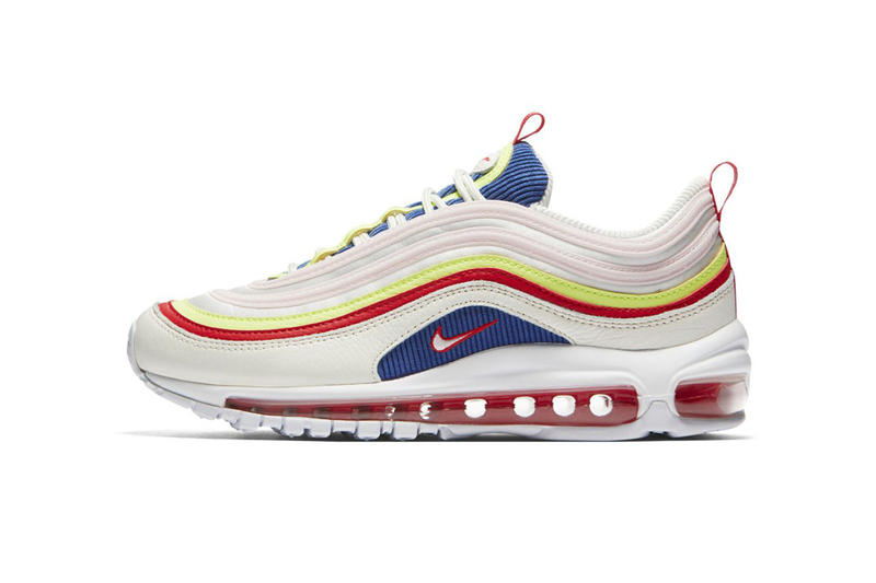 Nike Air Max 97 SE white blue red neon yellow pale pink spring summer 2018 release date info drop sneakers shoes footwear