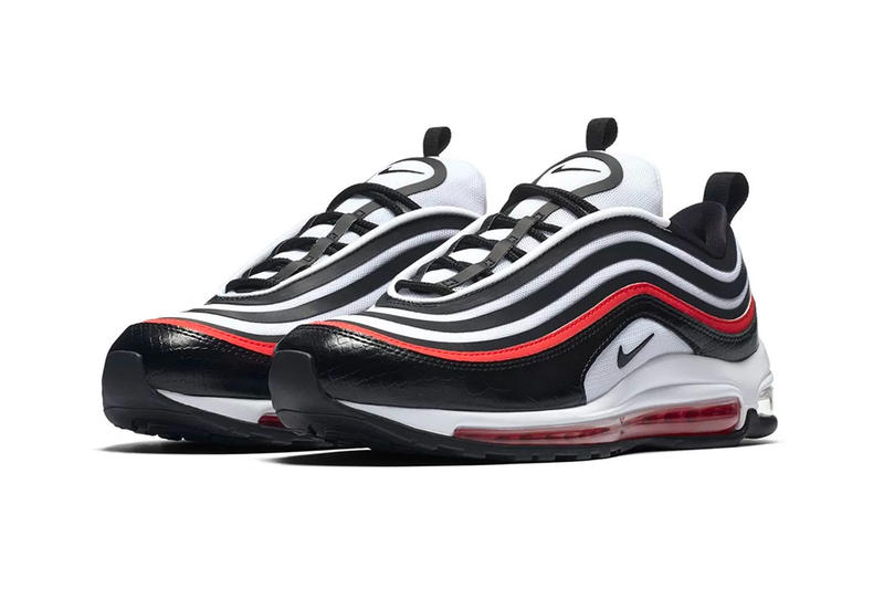 Nike Air Max 97 Ultra 17 SE leather mesh footwear sneakers black orange white brown
