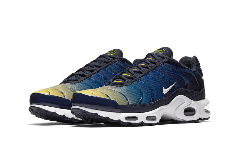 new product 0f760 866b7 Nike Air Max Plus Gradient Yellow Blue spring 2018 release sneakers footwear