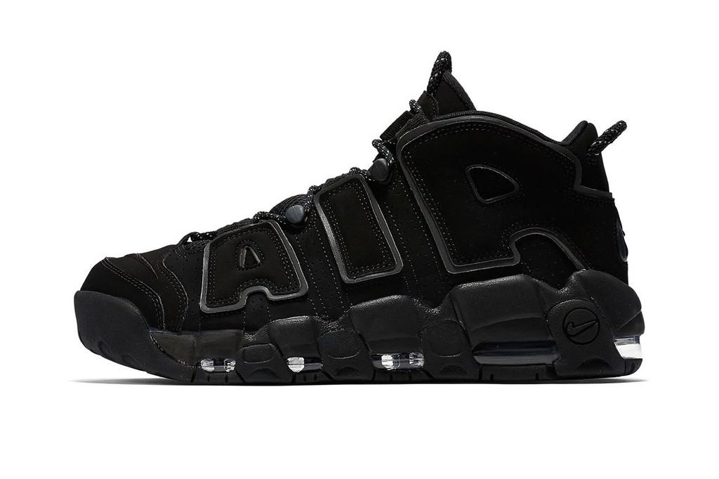 """46f3d7c77a A Closer Look at the Nike Air More Uptempo """"Triple Black"""""""