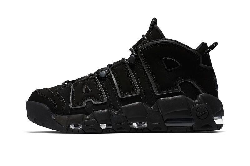 "info for cfa8f afa7b Nike Air More Uptempo ""Triple Black"" reflective release info"
