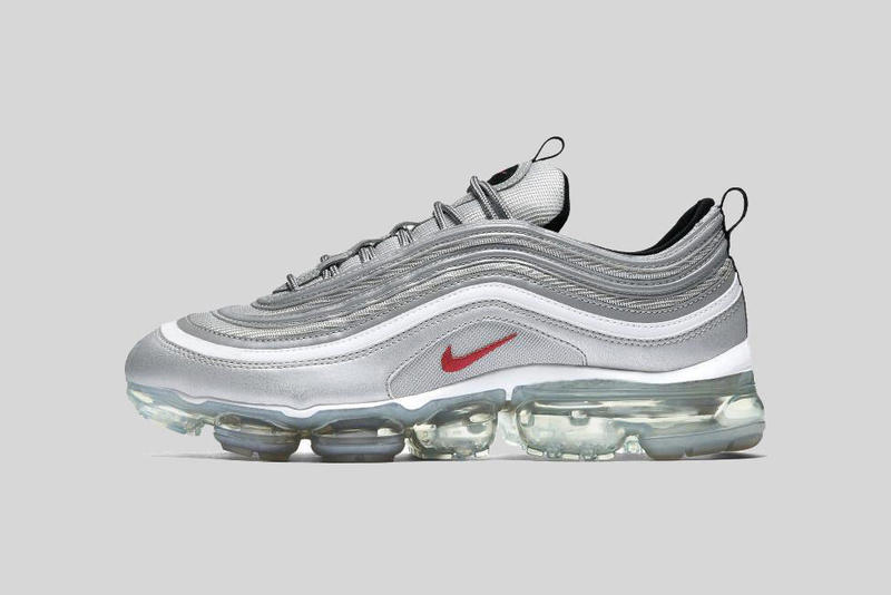 An OG look comes to the AM97 x Vapormax hybrid. Nike Air Vapormax 97 Silver  Bullet 2018 march spring summer ... 4ca951bfc