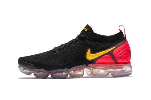 "Nike Air VaporMax Flyknit 2.0 Gets Flashy in ""Black/Red/Yellow"""