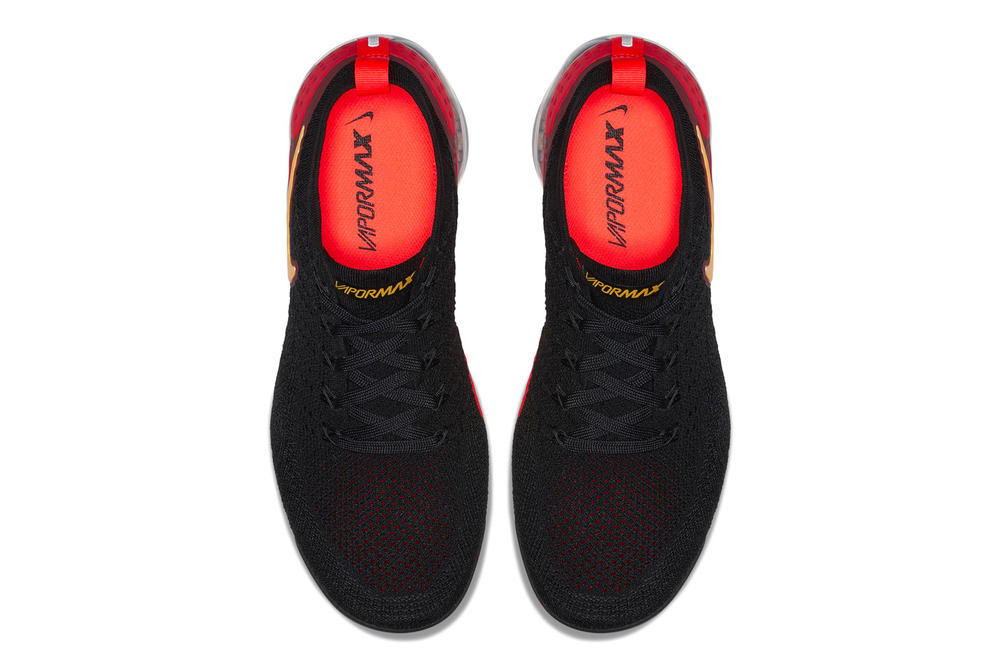 """Nike Air VaporMax Flyknit 2.0 """"Black/Red/Yellow"""" release date info purchase"""