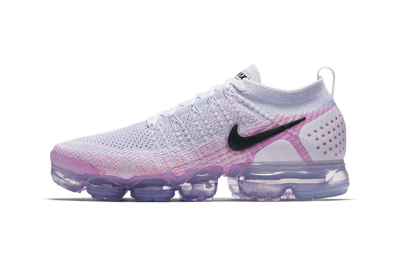 Nike Air VaporMax flyknit 2.0 Black White Hydrogen Blue grey purple sneakers mens womens pink