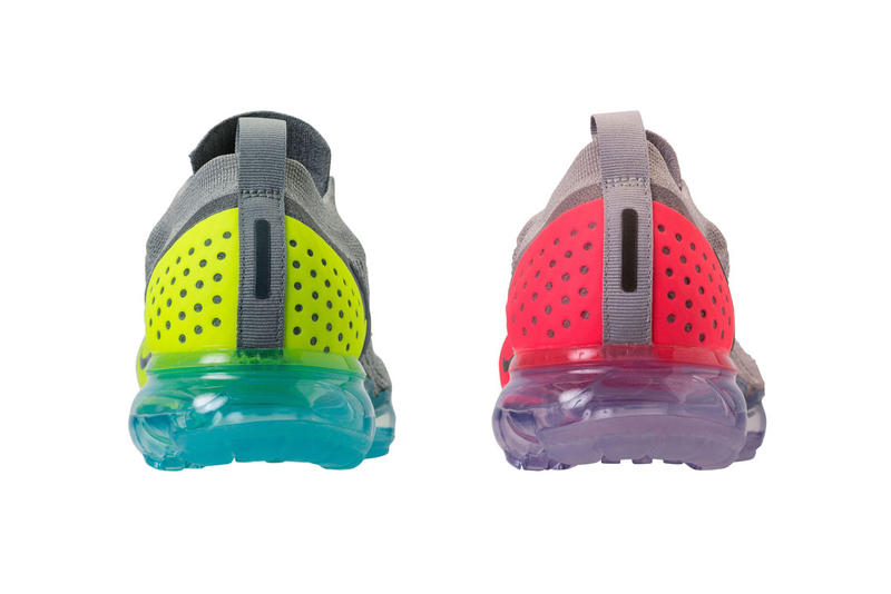 Nike Air VaporMax Moc Flyknit 2.0 Mica Green Volt-Neo Turquoise Moon ParticleSolar Red-Indigo Burst release info