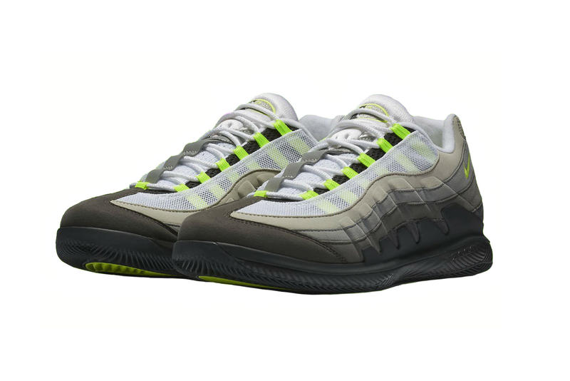 e4cf2724263983 Nike Court Vapor RF X Air Max 95 neon 2018 march 9 air max day roger
