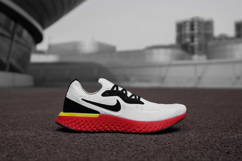 Nike Epic React Flyknit With Red Sole