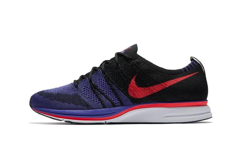 Nike Flyknit Trainer black purple siren red white persian violet footwear release date march 15 2018