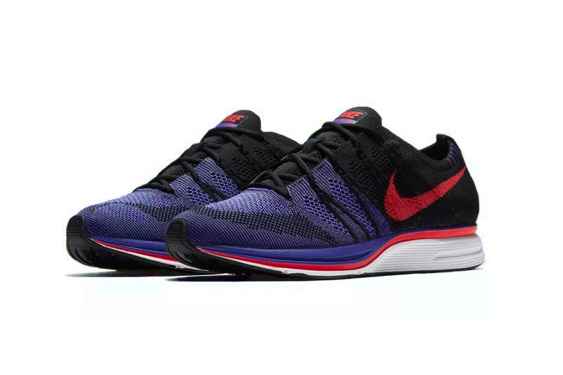 Nike Flyknit Trainer black purple siren red white persian violet footwear release date march 15 2018