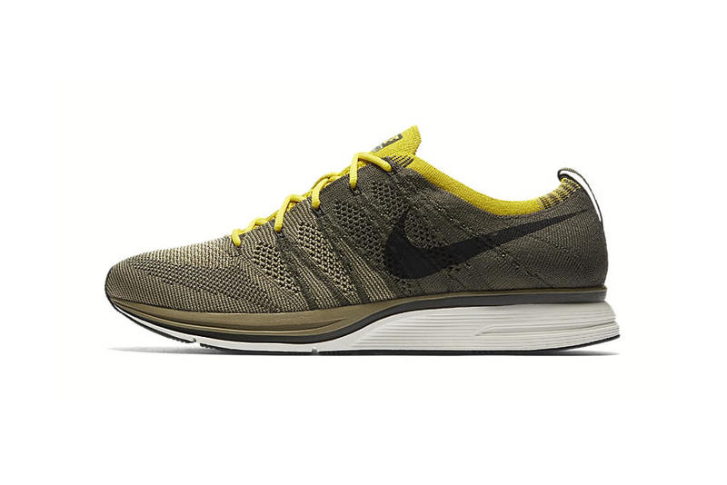 Nike Flyknit Trainer Cargo Khaki Bright Citron china march 6 2018 release date info sneakers shoes footwear