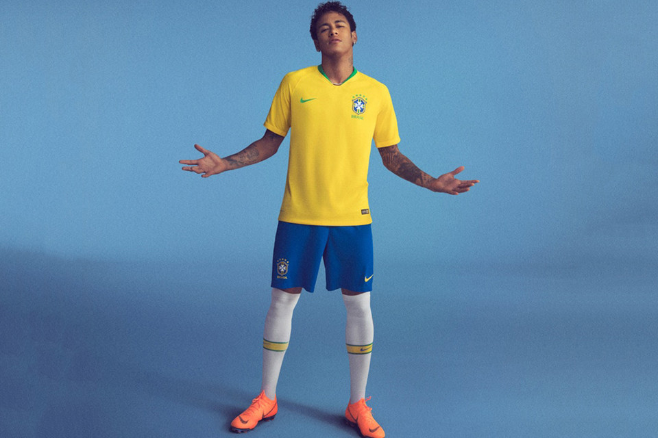 4ade77310f7 Nike Unveils Classic Brazil 2018 World Cup Kit