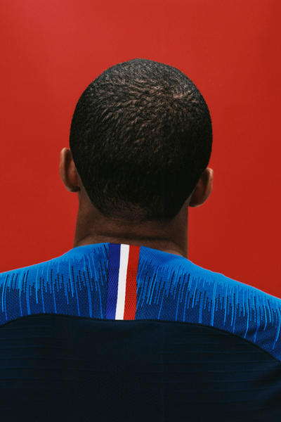 Nike Football French World Cup 2018 Soccer Collection Home Kits Jersey Away Kit FIFA Warm Up Tricolore Mariniere Release Info Buy Details Kingsley Coman Raphael Varane