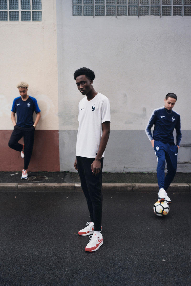 ac48d90c8 Inspired by the French tricolore flag. Nike Football French World Cup 2018  Soccer Collection Home Kits Jersey ...