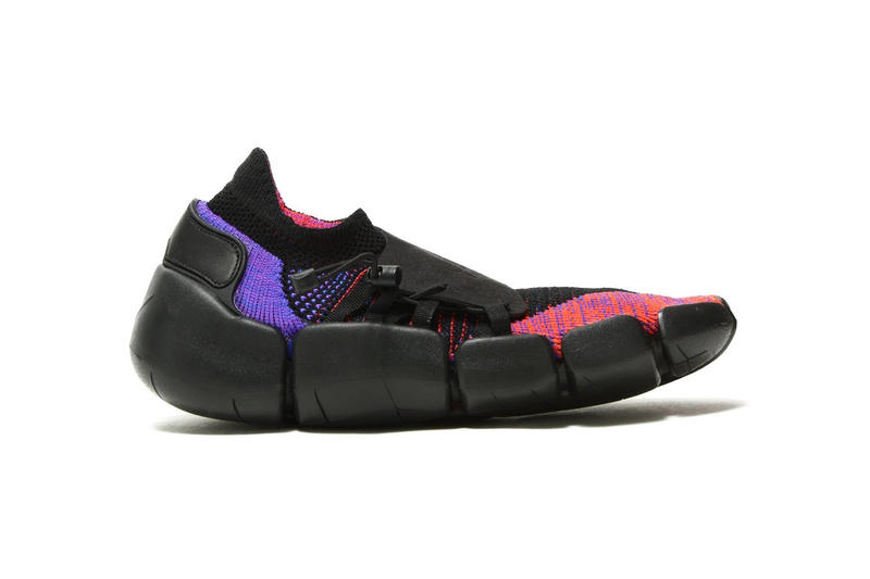 Nike Footscape Flyknit DM Tech Technical Footwear Trainers Sneakers Shoes Sportswear Stealth ACG Rakuten Sock-Type Flyknit Low-Barrel Structure Three Colorways Green All Black Orange Red Pink Purple Blur