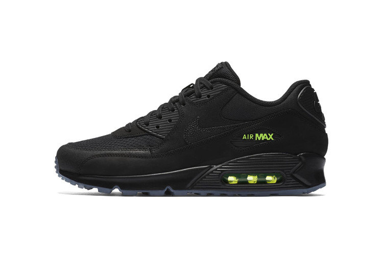 new style c5fca 37997 Nike Introduces KAWS-Like Air Max 90 in Black With Volt