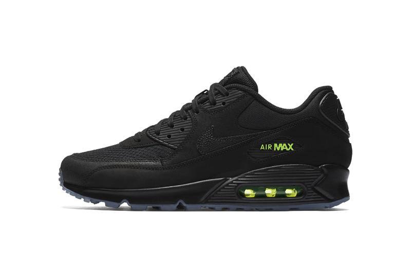 Nike KAWS Air Max 90 Black Volt AQ6101 001​ 2018 april spring summer release date info drop sneakers shoes footwear