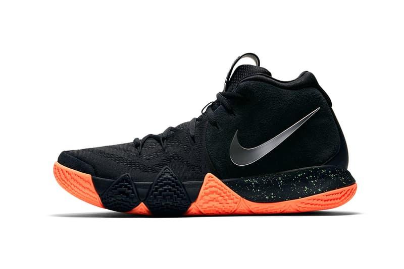 pretty nice 80dea 70d62 Nike Kyrie 4 Black Orange Green March 16 release sneakers footwear