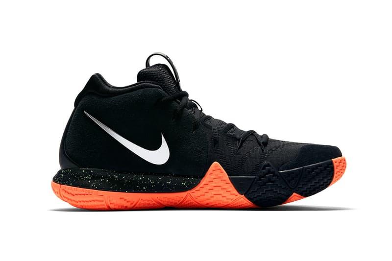 Nike Kyrie 4 Black Orange Green March 16 release sneakers footwear