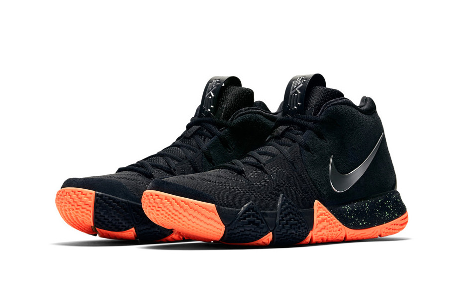 kyrie 4s black and green