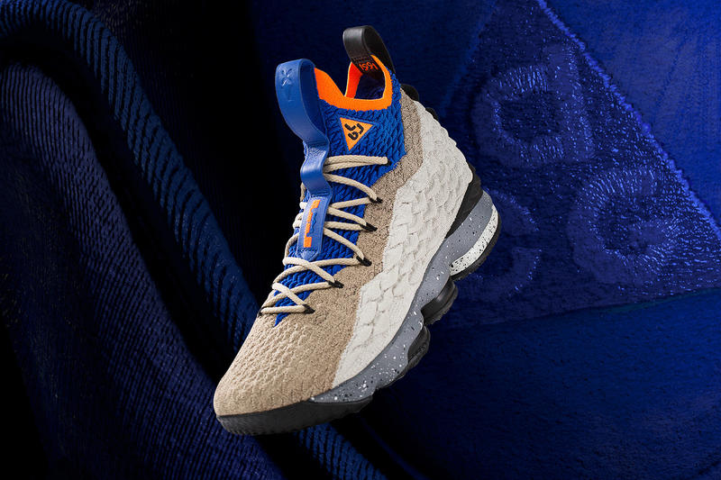Nike LeBron 15 ACG Mowabb LeBron Watch Program SNKRS release orange blue brown sneakers footwear