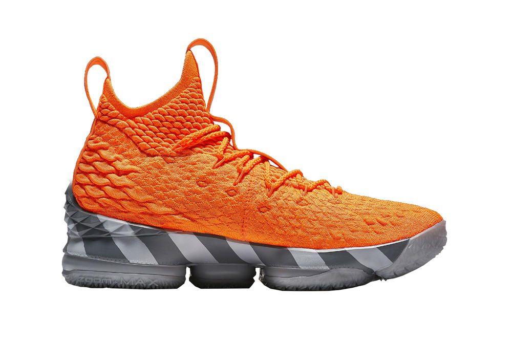 Nike Lebron James 15 Orange Box Release Date White Mine Gray Information Details Portland Trail Blazers Cleveland Cavaliers sneakers footwear basketball NBA