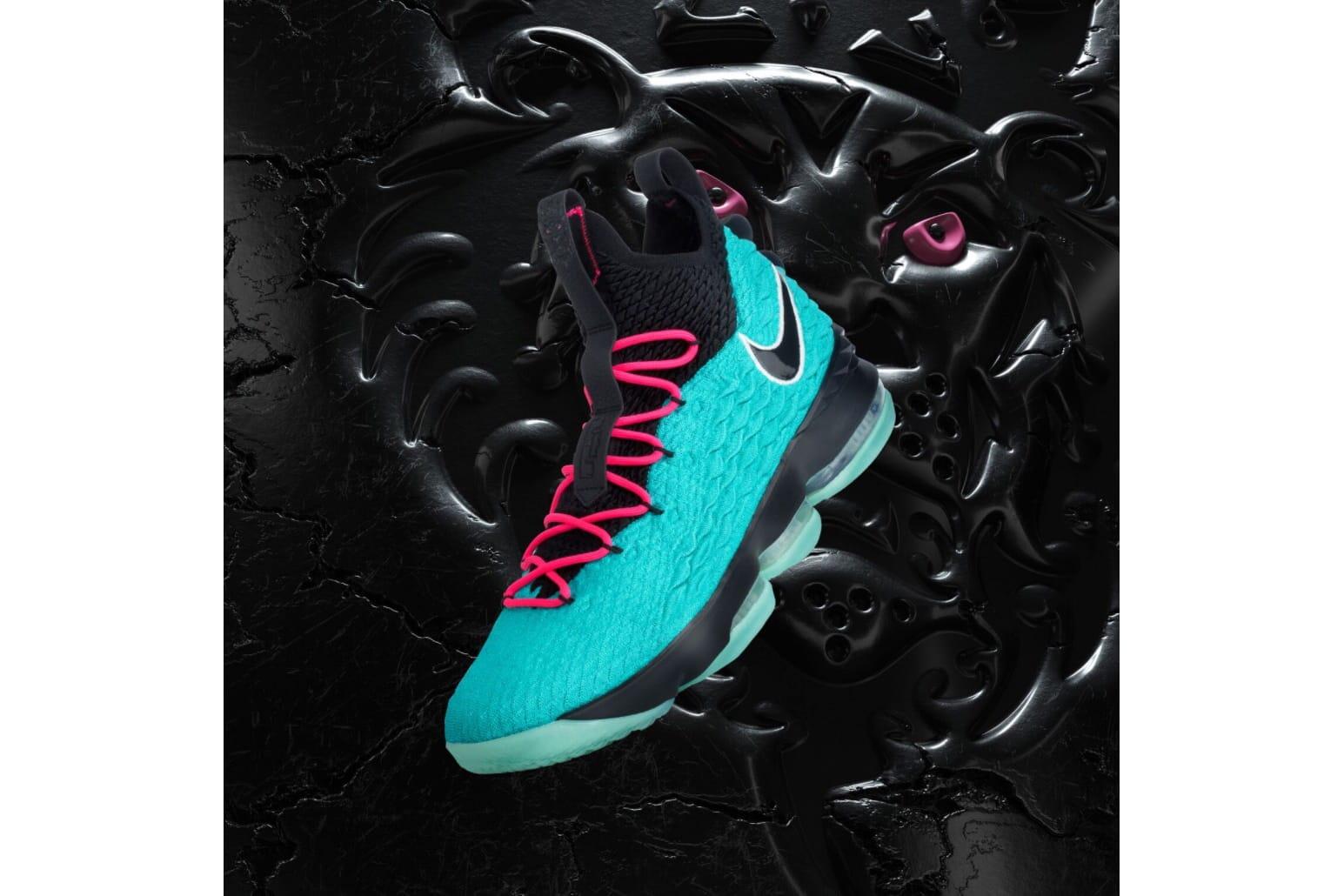 "Nike LeBron 15 ""South Beach"" First Look"