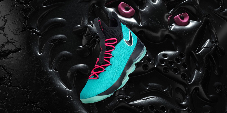 "5c89745559c Nike LeBron 15 ""South Beach"" First Look"