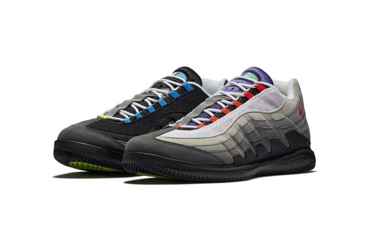 superior quality b5fad 1eaa3 Roger Federer s NikeCourt Air Zoom Vapor X Meets the Air Max 95
