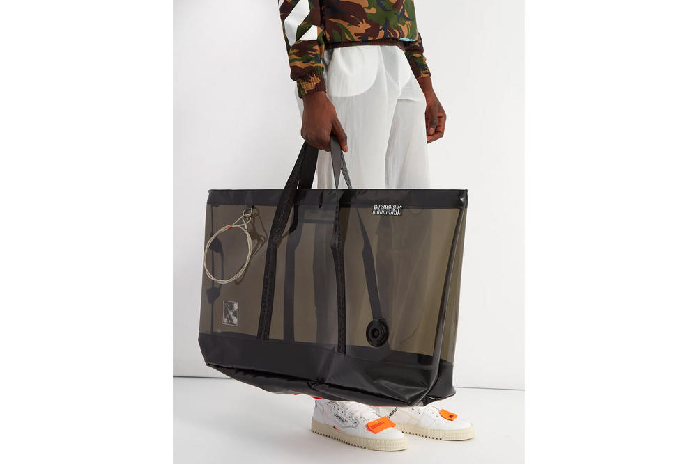 Off-White™ PVC caryall tote bag black translucent purchase available now