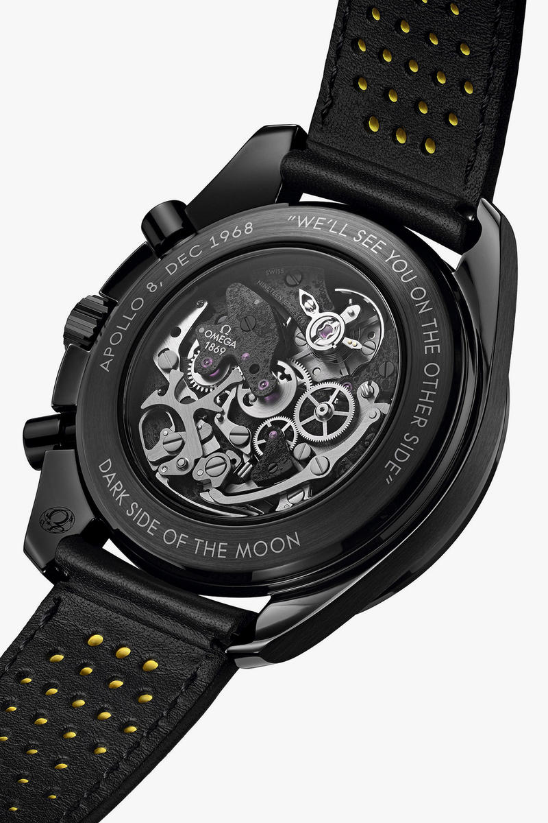 OMEGA Speedmaster Dark Side of the Moon Apollo 8 watch black yellow release date info drop