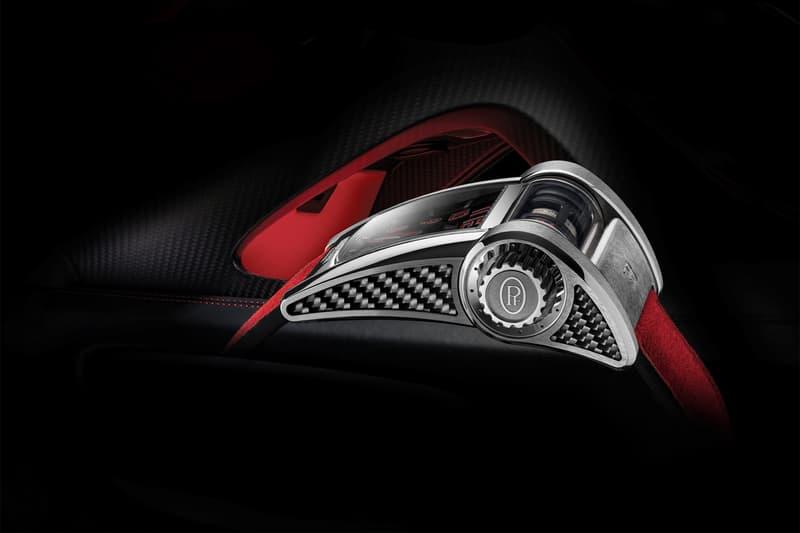 Parmigiani Fleurier's Bugatti Chiron Sport Type 390 watch red black customizable luxury geneva motor show