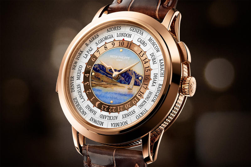 Patek Philippe Ref 5531R WorldTime Minute Repeater Lake Geneva Lavaux vineyard terrace shore dial face